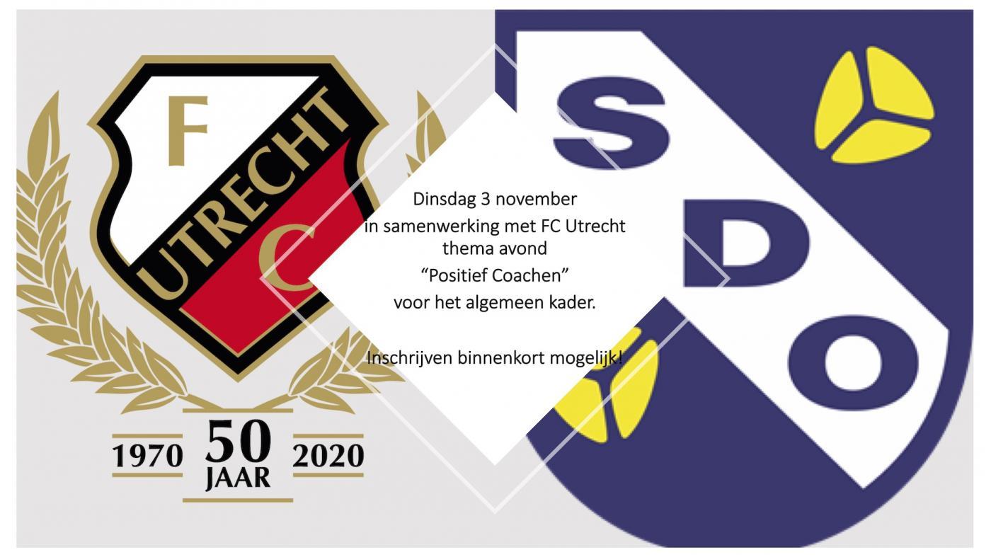 Dinsdag 3 november: thema avond over positief coachen i.s.m. FC Utrecht