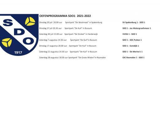 Voor in de agenda: startdata 1e teams SDO