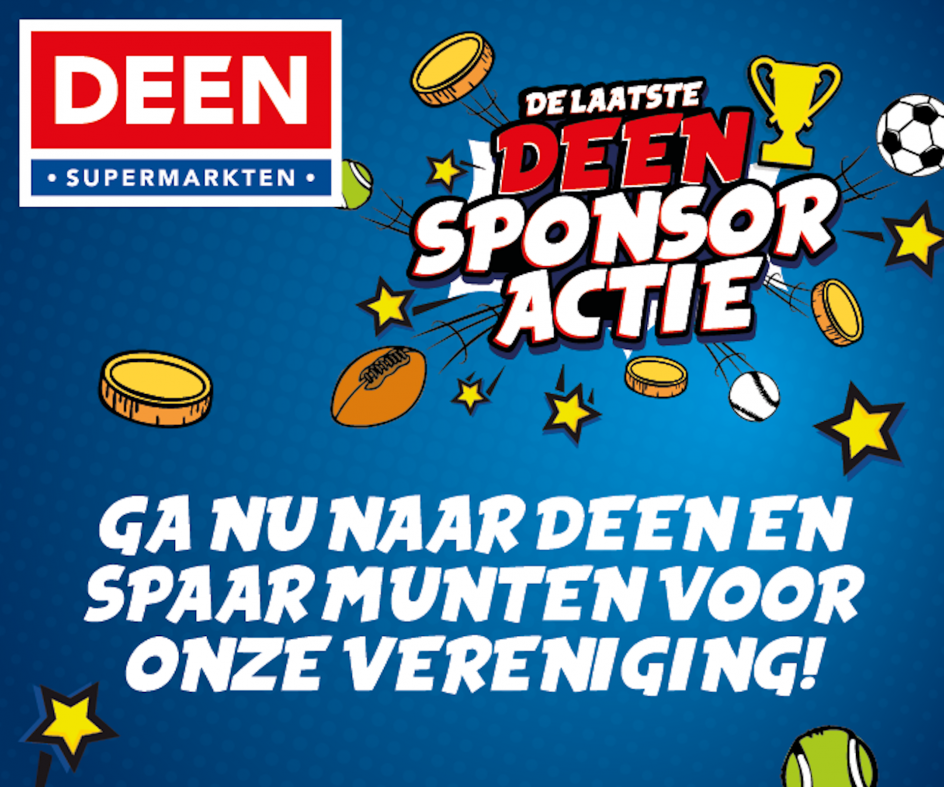 Jeugd sponsoractie Deen supermarkten tm 14 augustus